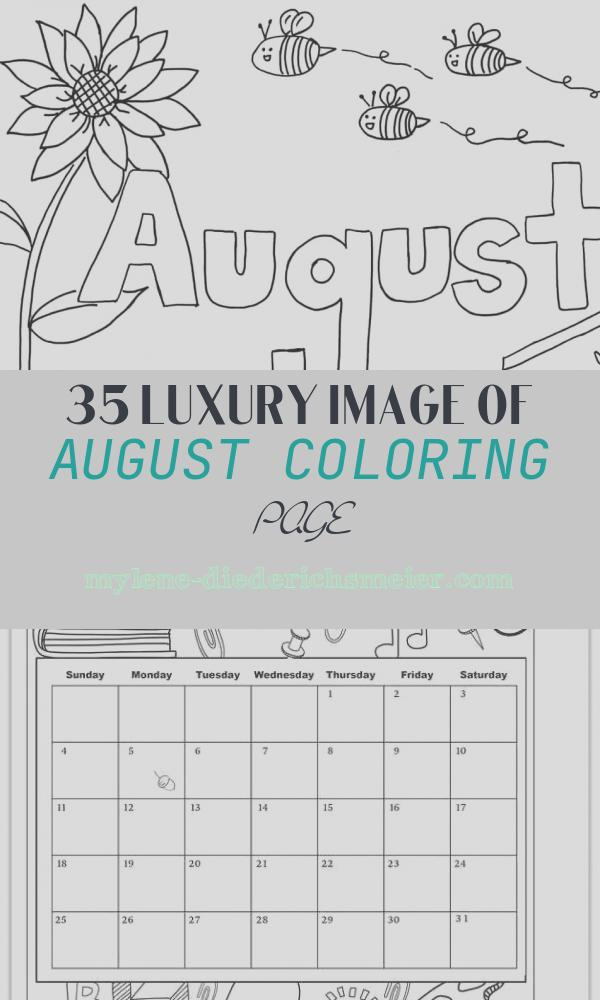 August Coloring Page New Printable Monthly Coloring Pages the Empowered Provider