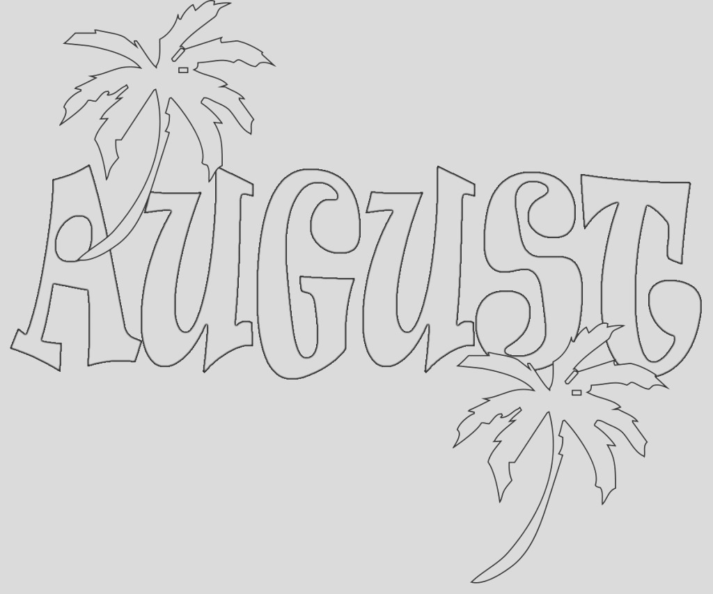 august coloring pages
