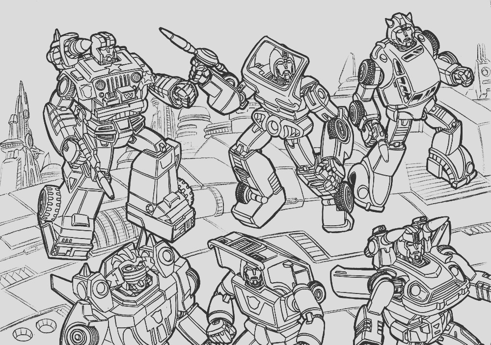 coloring pages of transformers
