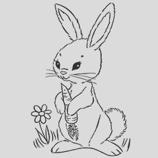 cute funny rabbit coloring pages for your toddler