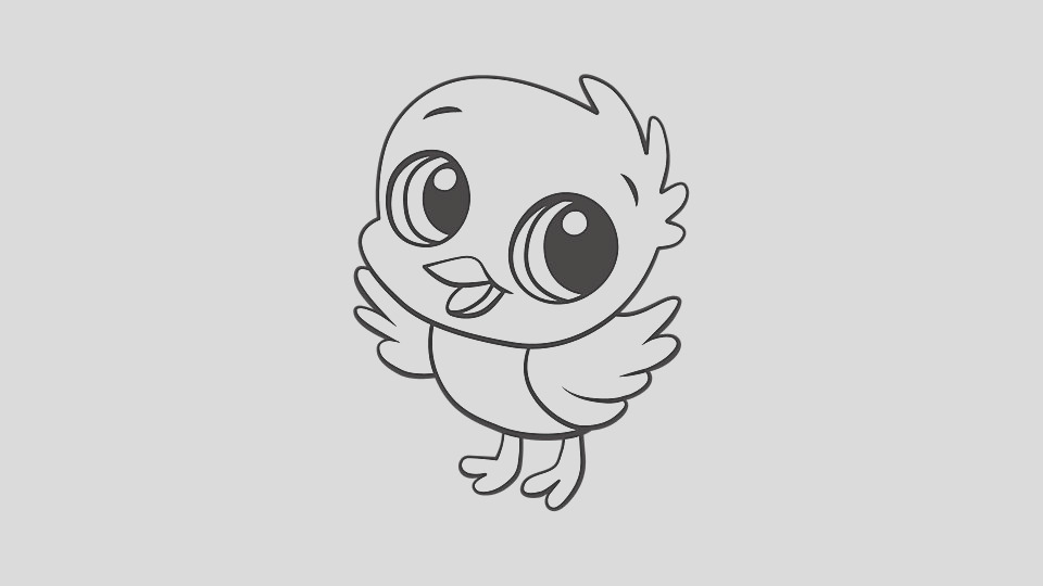 baby animal coloring pages chick