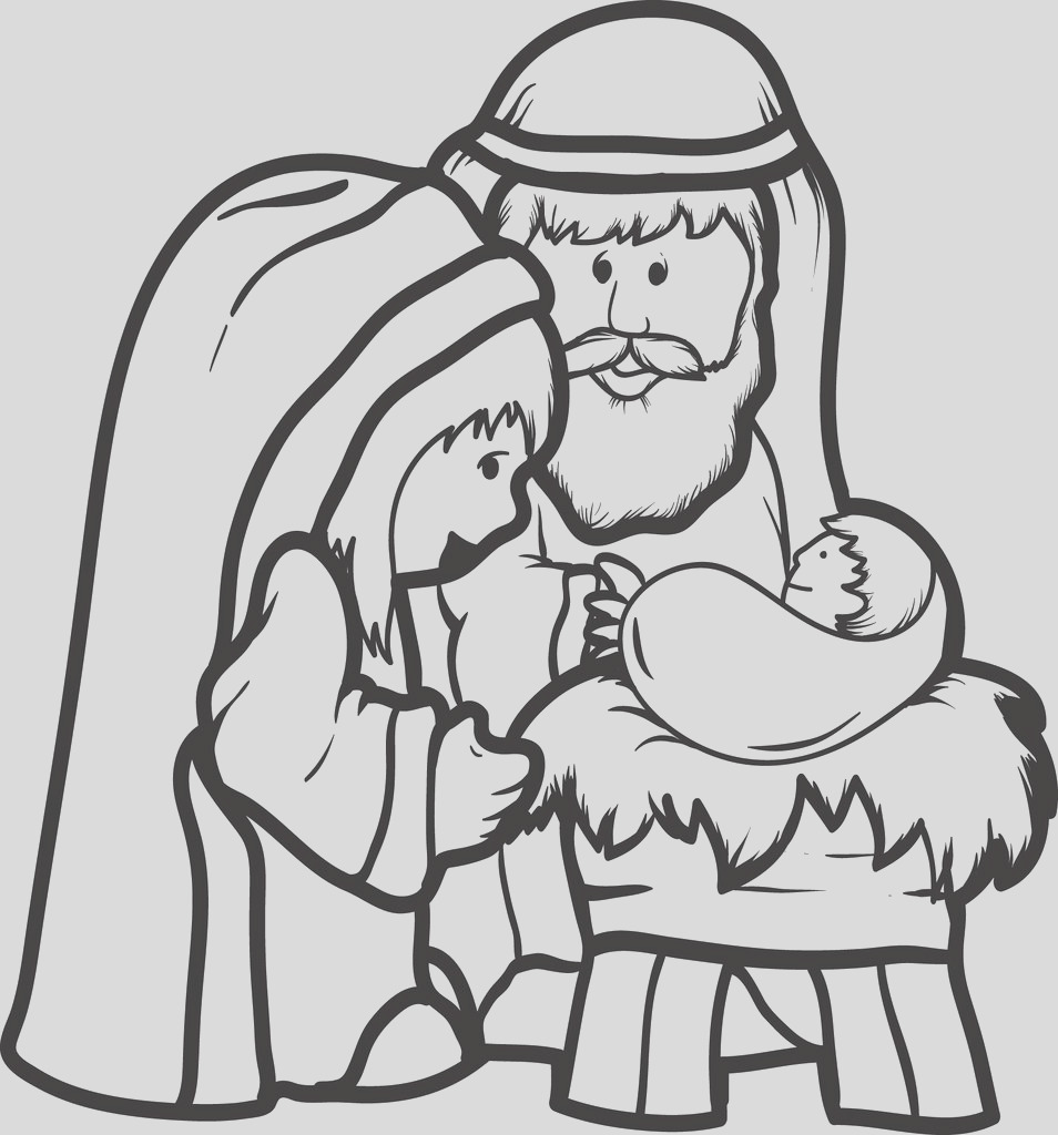 mary joseph baby jesus coloring page 2 a4706