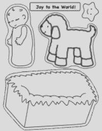 thumbnail of printable nativity craft page for baby jesus touchnfeel craft fun and easy for preschool children to make lots of other nativity pics o