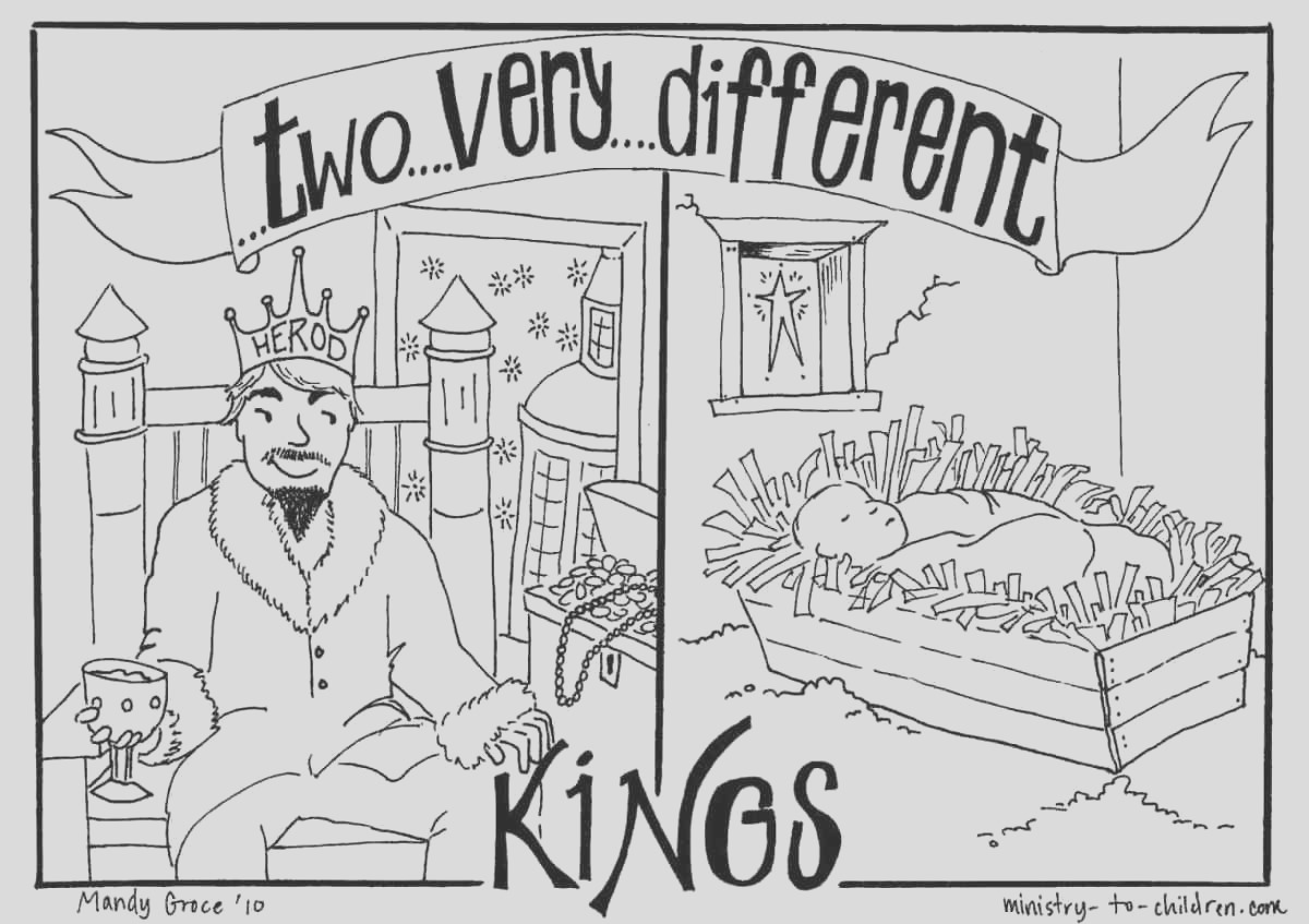 king herod vs baby jesus coloring page
