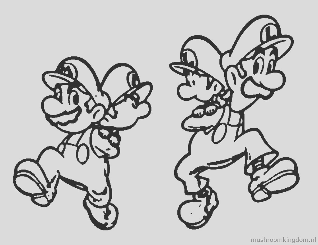 baby mario and luigi coloring pages