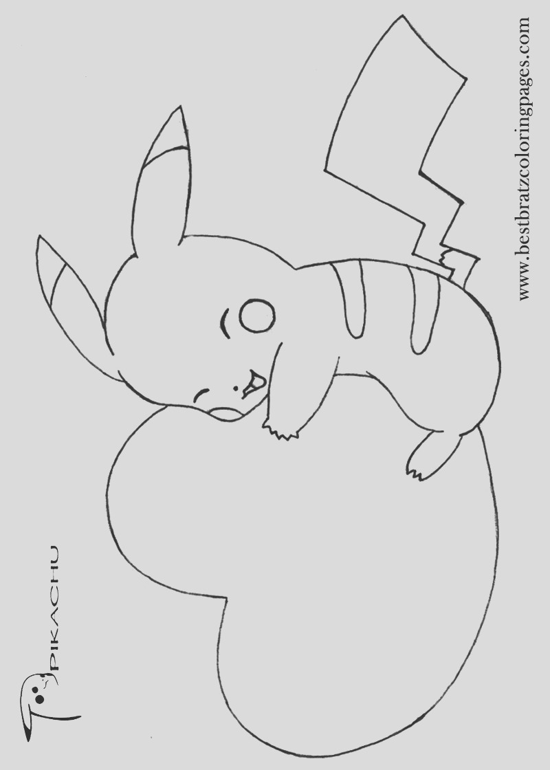 cute baby pikachu coloring pages sketch templates
