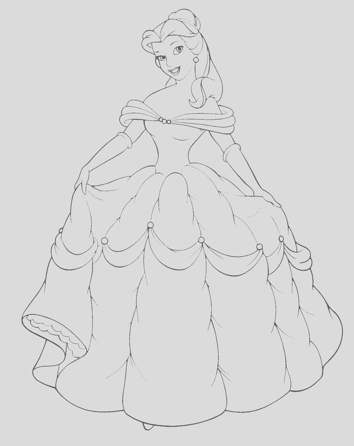 disney princess belle and her gown