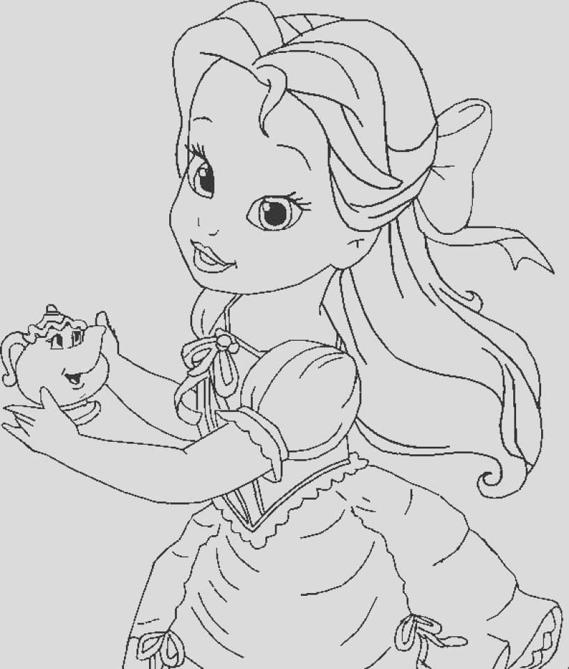 belle coloring pages printable