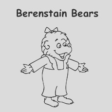 berenstain bears coloring pages for your toddlers