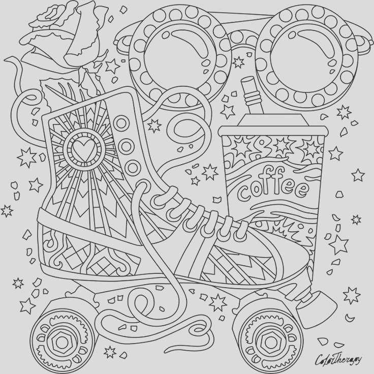 shoes coloring pages for adults