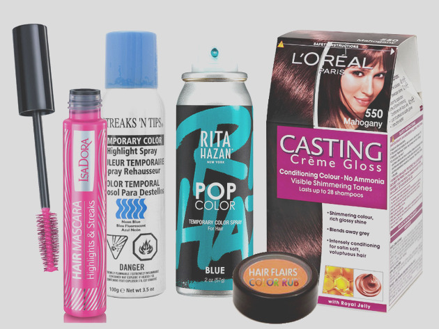 best temporary hair color products A