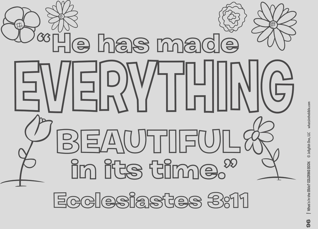 bible verse coloring pages he has made everything beautiful in its time