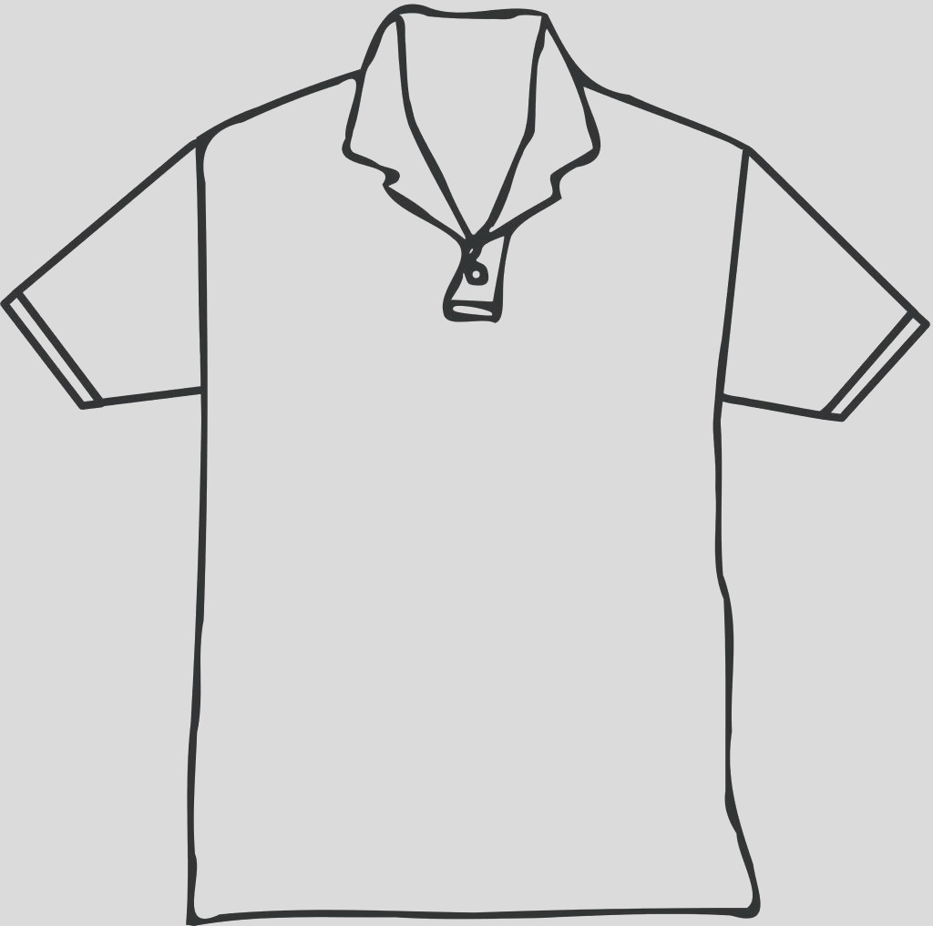 blank t shirt drawing