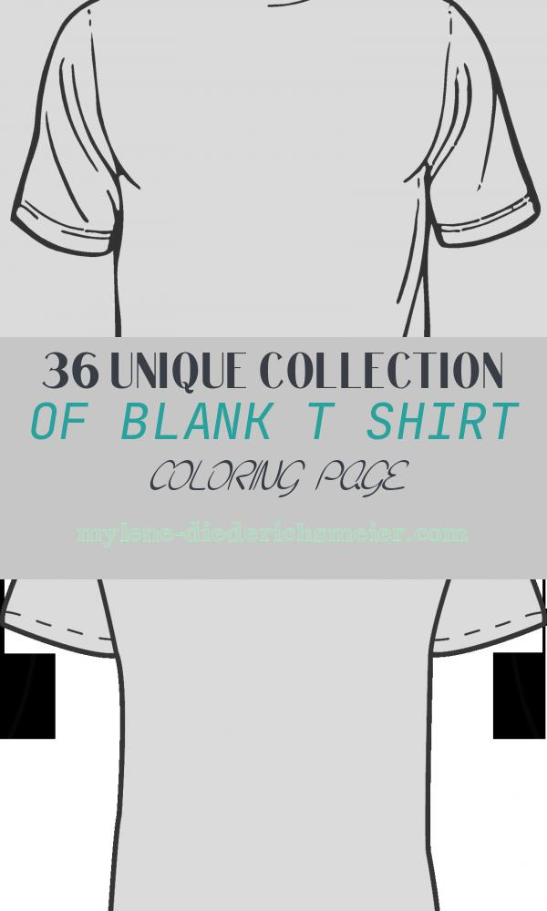 Blank T Shirt Coloring Page New Blank T Shirt