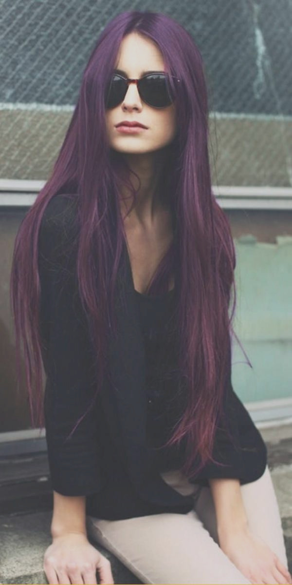 how to dye your hair purple without bleach