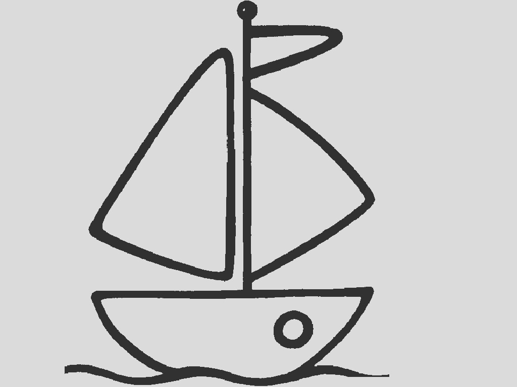 easy boat coloring sketch templates