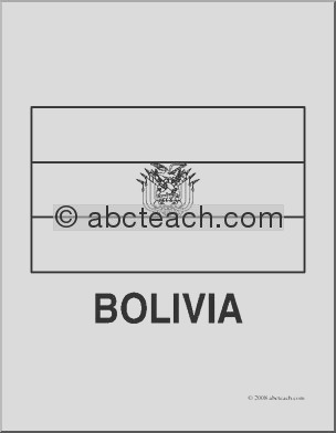 clip art flags bolivia coloring page