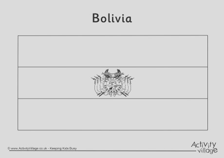 bolivia flag colouring page