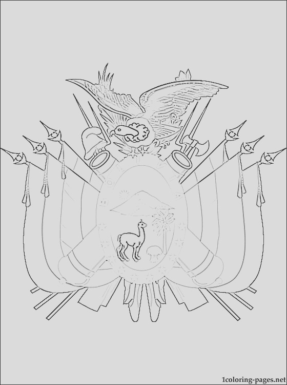 bolivia coat of arms coloring page