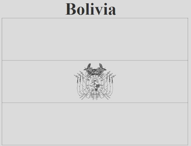 bolivia flag coloring page