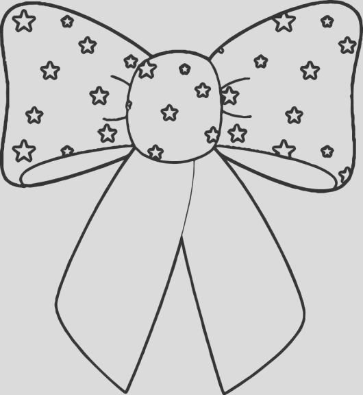 wonderful fun bow coloring page activity ages