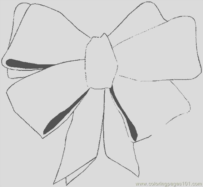 hair bow coloring page