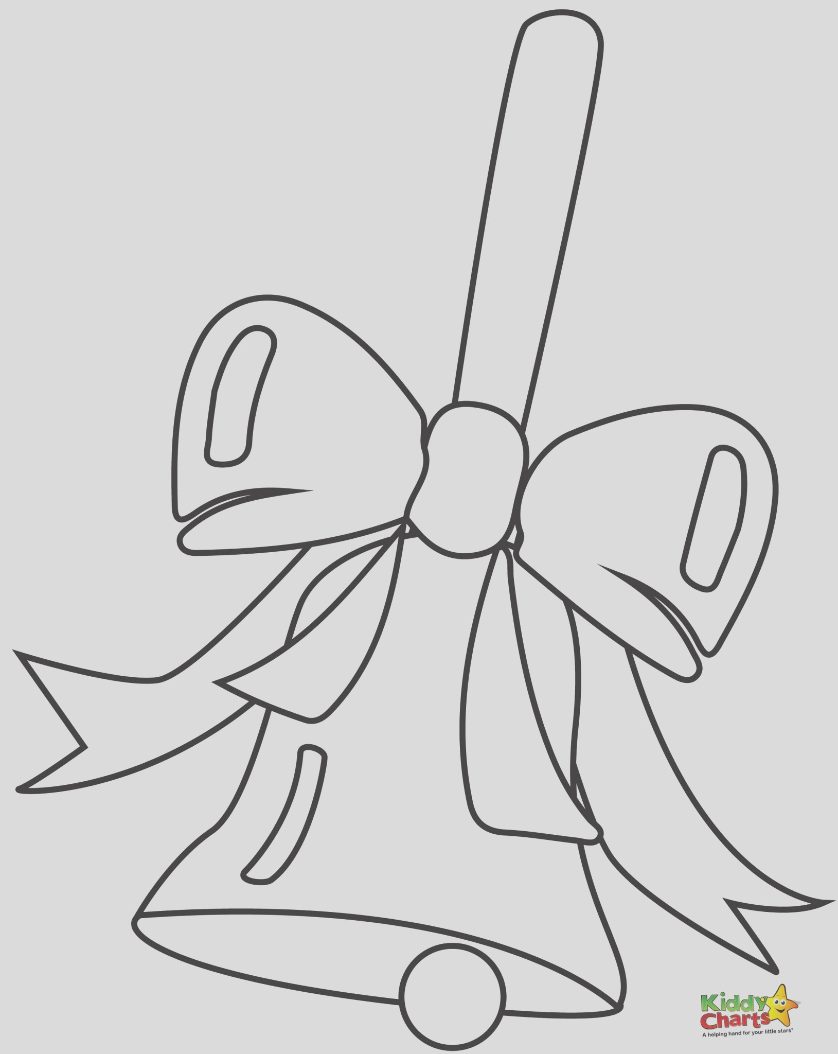 bell bow printable christmas coloring pages