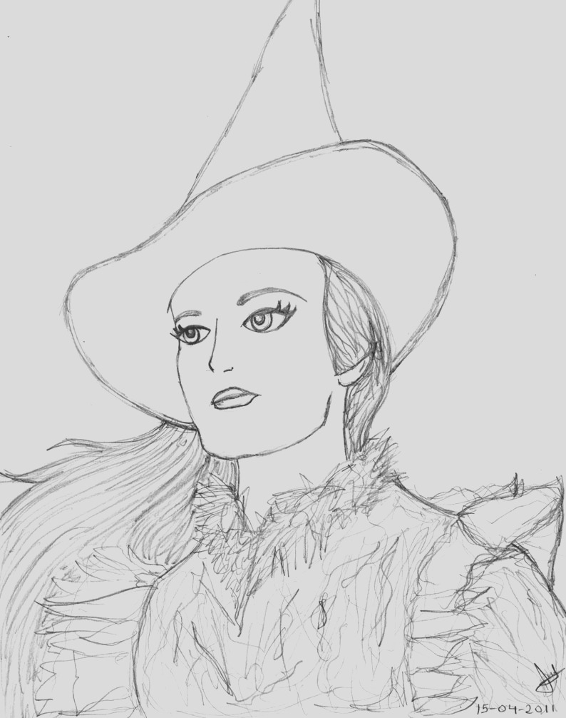 wicked musical coloring pages
