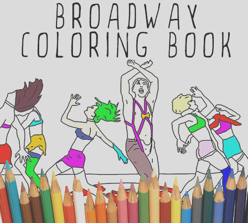 the broadway coloring book adult