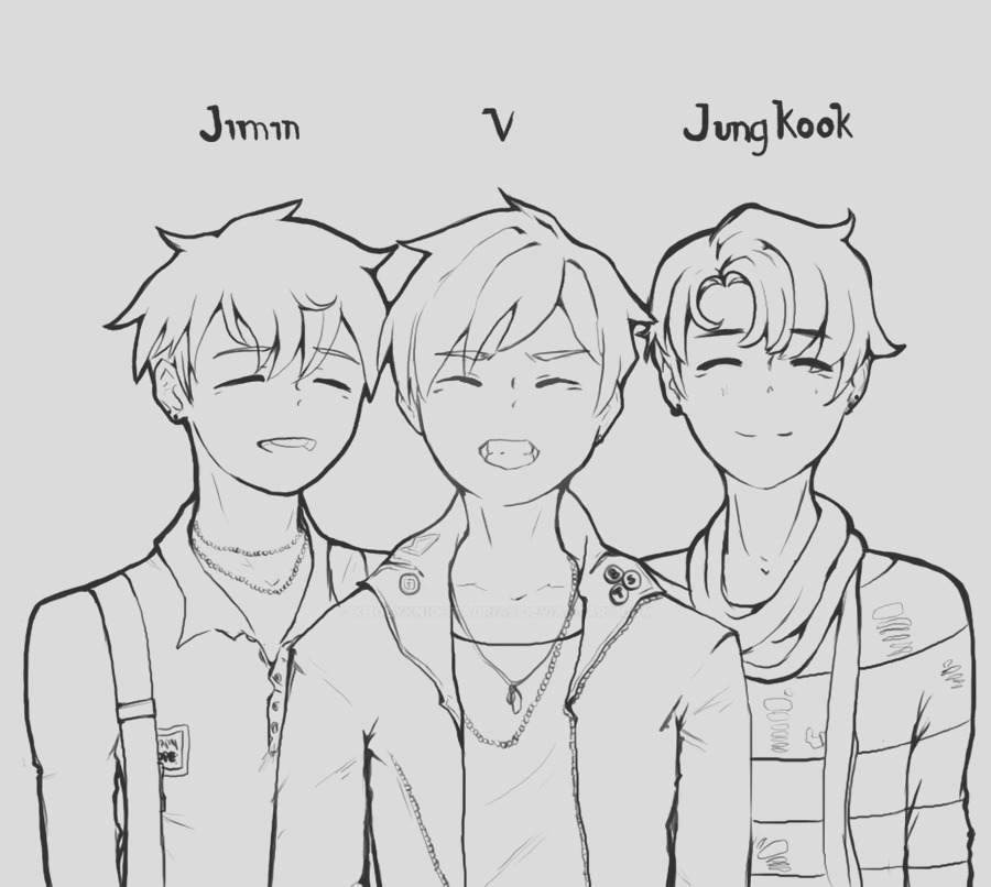 bts kpop coloring pages sketch templates