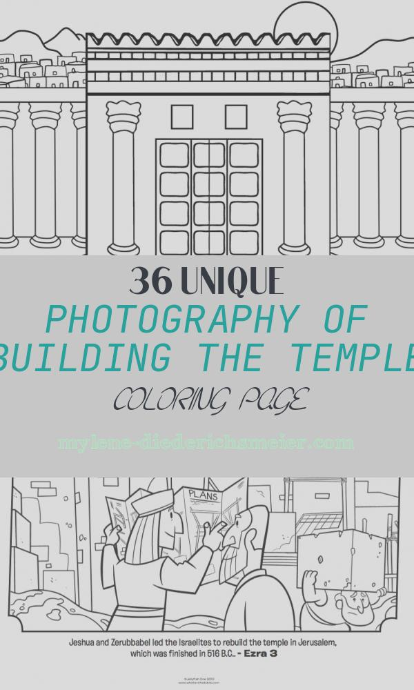 Building the Temple Coloring Page Beautiful Rebuilding the Temple Crafting the Word God