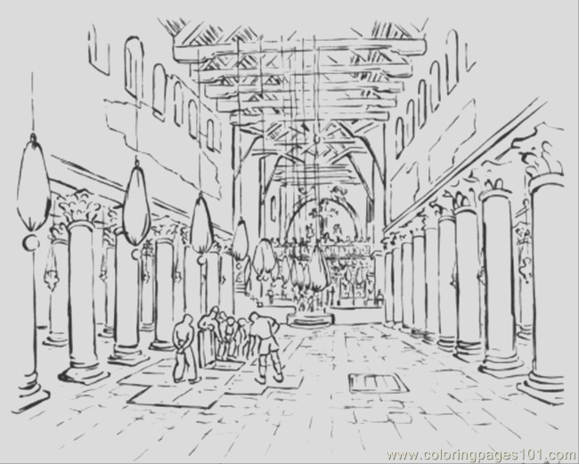 building the temple coloring pages