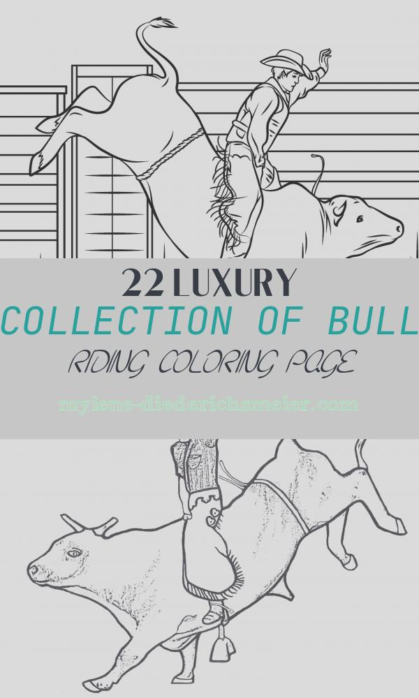 Bull Riding Coloring Page Luxury Cowboy Riding A Bull Coloring Page