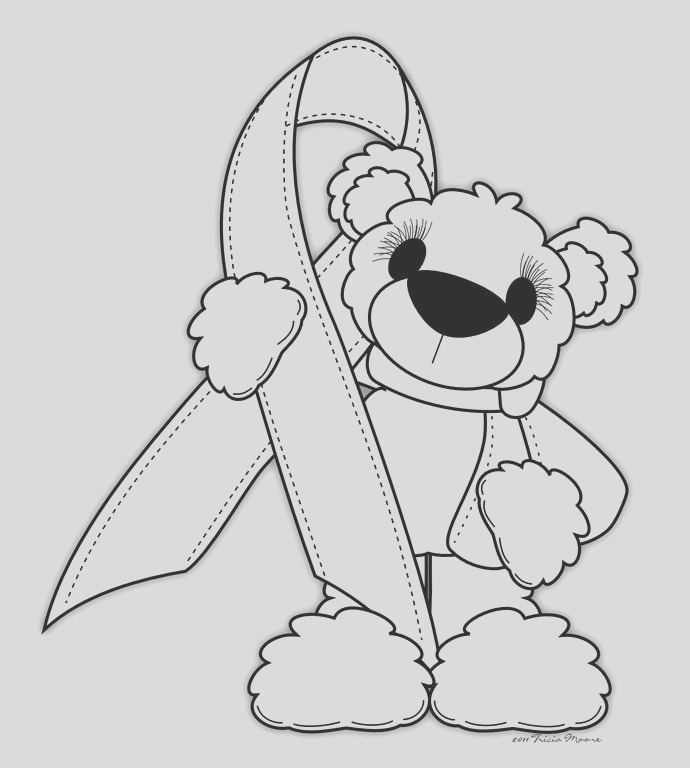 coloring pages for breast cancer ribbon