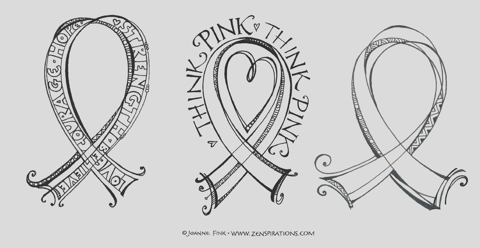 think pink free able coloring pages