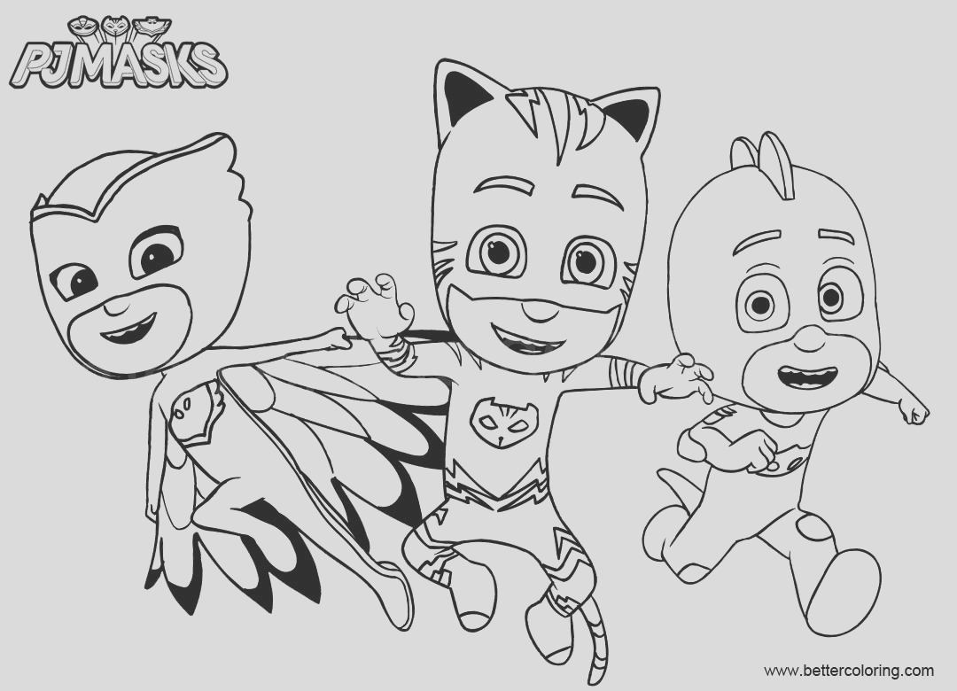 catboy from pj masks coloring pages