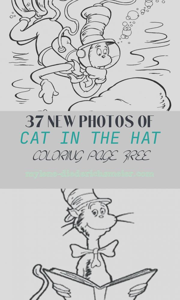 Cat In the Hat Coloring Page Free Inspirational Free Printable Cat In the Hat Coloring Pages for Kids