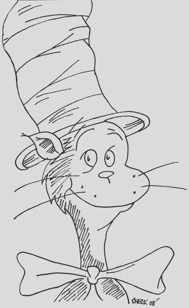 cat in the hat pictures to print