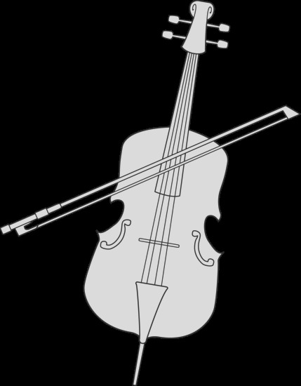 cello drawing