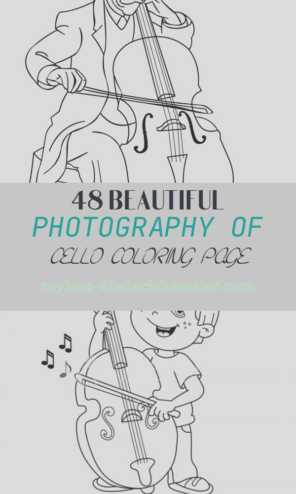 Cello Coloring Page Fresh Cello Printable Coloring Pages