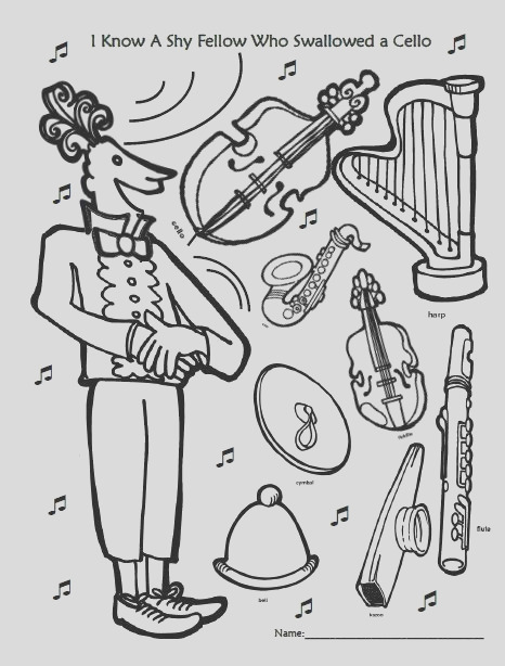 orchestra coloring page