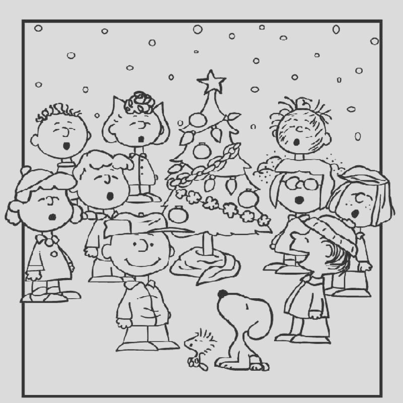charlie brown christmas coloring page 2