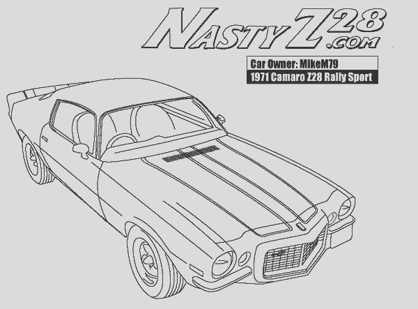 1969 camaro coloring pages