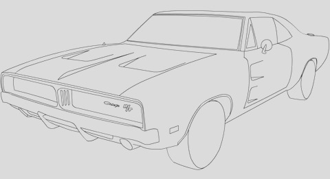 chevy bowtie drawing