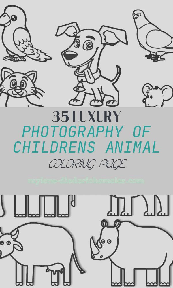 Childrens Animal Coloring Page Inspirational Home Animals Coloring Pages