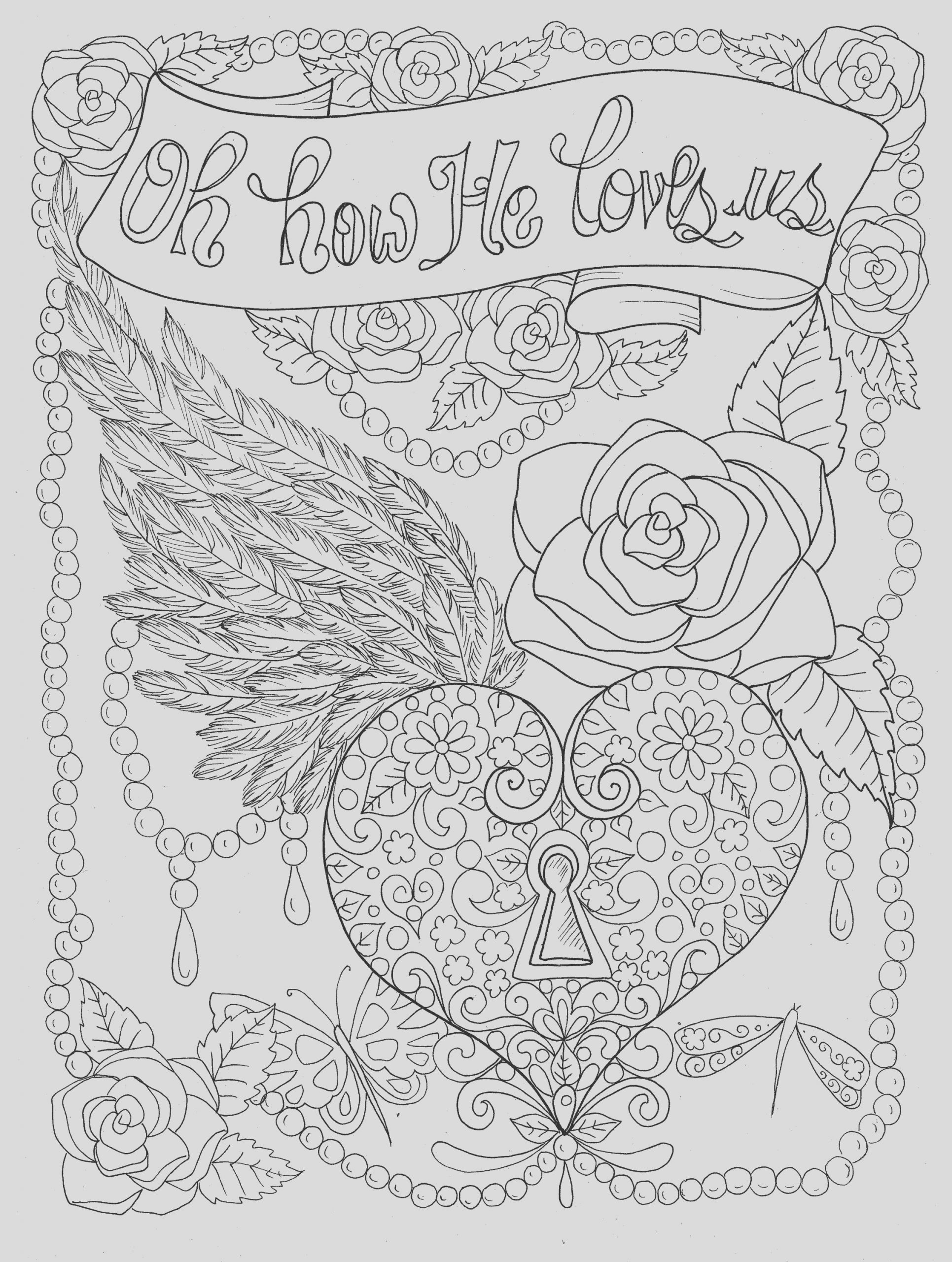 christian worship coloring page instant