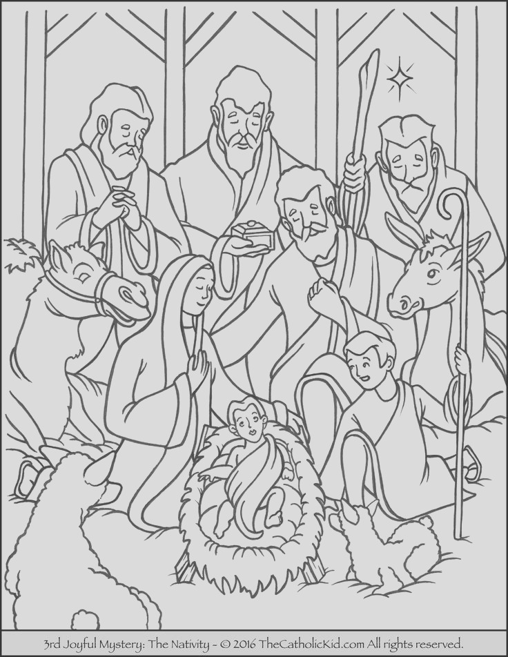 mary coloring pages