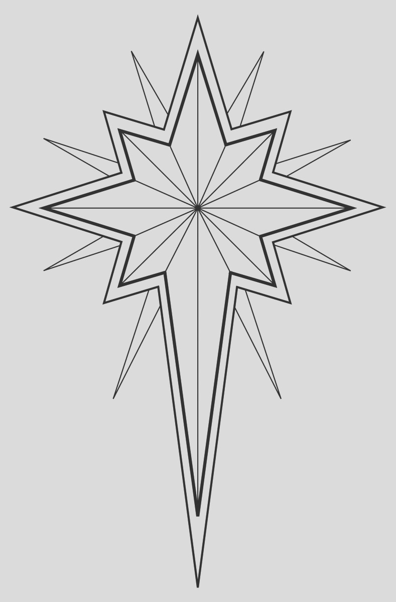 christmas star illustration bw star of bethlehem religious clip art