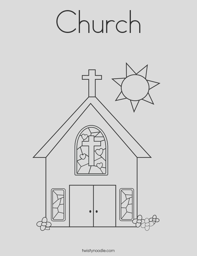 church coloring page
