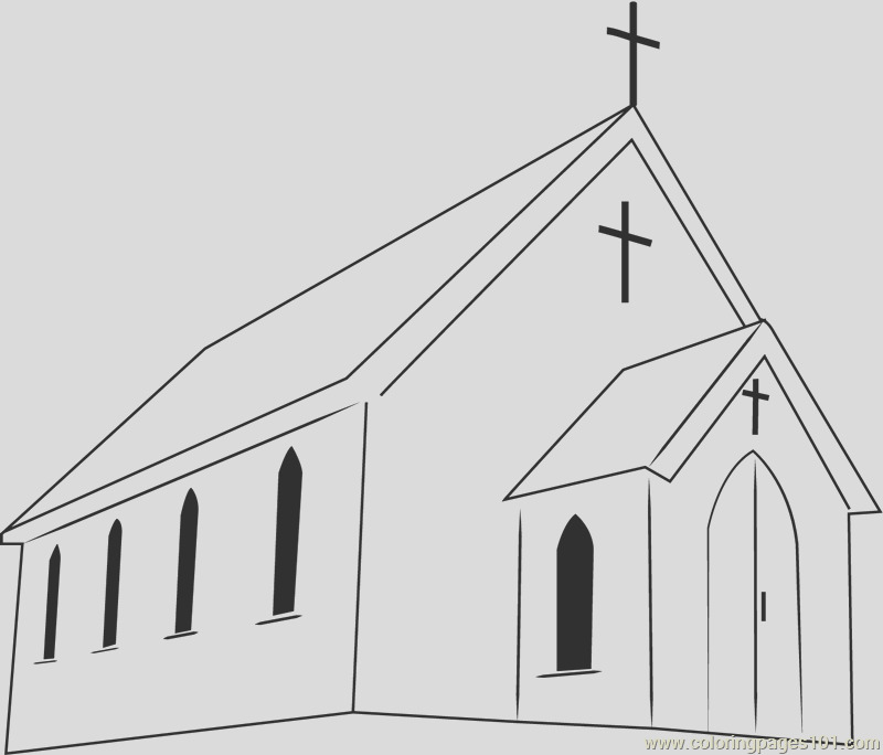 first presbyterian church coloring page